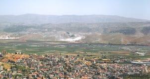 La ville de Zahle dans le Beqaa, Liban photo stock