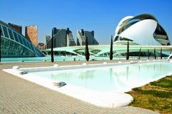 La ville des arts et des sciences de Valence Photos stock