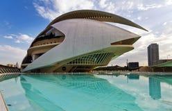 La ville des arts et des sciences Valence, Espagne Photographie stock
