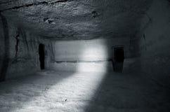 La ville des cavernes images libres de droits