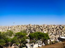 la ville du ciel bleu de la Jordanie photos libres de droits