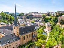 La ville du Luxembourg image stock
