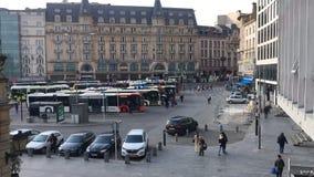 La ville du Luxembourg, place de station de train clips vidéos