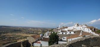 La ville du monsaraz, l'Alentejo, Portugal images libres de droits