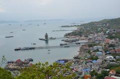 La ville et la mer Photographie stock