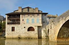 La ville française antique Nerac Photo stock