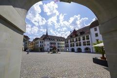 La ville Hall Square de la ville de Thun Images libres de droits