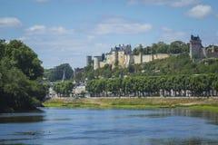 La ville historique Chinon, France Images libres de droits