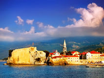 La ville historique par la mer Photos libres de droits
