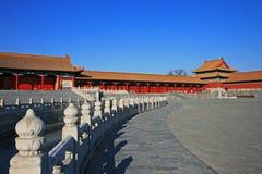La ville interdite historique à Pékin Photographie stock libre de droits