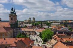 La ville médiévale d'Eger prise des remparts de l'Eger FO Photo libre de droits