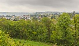 La ville Maria Enzersdorf près de Vienne Vue de château Liechtens photos libres de droits