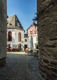 La ville minuscule des winemakers Image libre de droits
