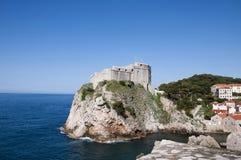 La ville murée de Dubrovnic en Croatie l'Europe Dubrovnik est surnommé perle de ` de l'Adriatique Images stock