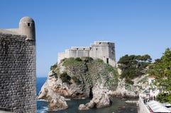 La ville murée de Dubrovnic en Croatie l'Europe Dubrovnik est surnommé perle de ` de l'Adriatique Photo libre de droits