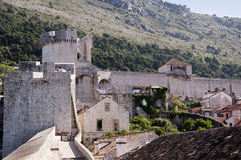 La ville murée de Dubrovnic en Croatie l'Europe Dubrovnik est surnommé perle de ` de l'Adriatique Image libre de droits