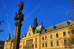 La ville nouvelle Hall (Tchèque : Radnice de Novom?stská), vieux bâtiments, ville nouvelle, Prague, République Tchèque Photographie stock libre de droits