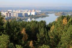 La ville (nucléaire) fermée en Sibérie - Zelenogorsk Photos libres de droits