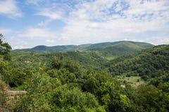 La ville perdue de Monterano Photo libre de droits
