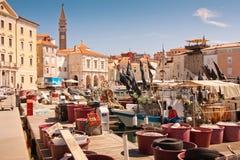 La ville Piran image libre de droits
