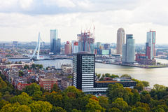 La ville regarde Rotterdam Image stock