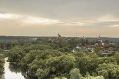 La ville russe antique Borovsk en juillet Photo stock