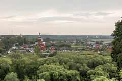 La ville russe antique Borovsk en juillet Images stock