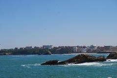 La ville sur l'Océan Atlantique Images libres de droits