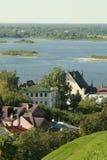 La ville sur la rivière Oka Photographie stock libre de droits