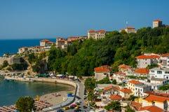 La ville Ulcinj Image libre de droits
