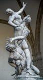La violación de la estatua de las mujeres de Sobbin en Florencia Fotografía de archivo libre de regalías