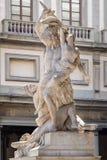 La violación de Sabine Women del escultor Giambologna en la ciudad de Florencia Fotos de archivo