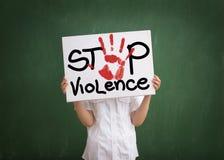 La violencia debe ser parada Fotografía de archivo libre de regalías