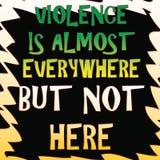 La violenza è everwhere royalty illustrazione gratis
