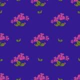 La violeta florece el modelo inconsútil del estilo retro Foto de archivo libre de regalías