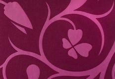 La violette avec le rose fleurit le fond de papier peint de modèle d'imagination Images libres de droits