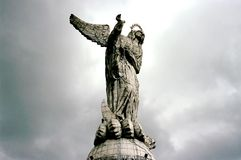 La Virgen de Panecillo. This image was shot in Ecuador's capital of Quito and shows La Virgen de Panecillo which overlooks the city Stock Images