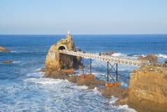 La Virgen en el rocho de Biarritz Foto de archivo libre de regalías