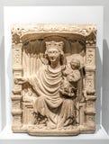 La Virgen y el niño - 1350 Foto de archivo libre de regalías