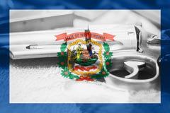 La Virginie Occidentale U S contrôle des armes Etats-Unis de drapeau d'état Les Etats-Unis Photos stock