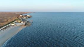 La visión aérea Delaware Bayfront contiene New Jersey almacen de metraje de vídeo