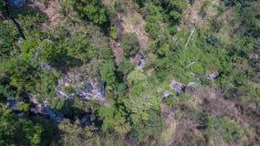 La visión aérea en Khao sonó la señal del punto de vista de la ciudad de Phuket Fotos de archivo libres de regalías