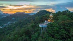 La visión aérea en Khao sonó la señal del punto de vista de la ciudad de Phuket Fotografía de archivo