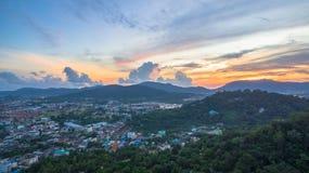 La visión aérea en Khao sonó la señal del punto de vista de la ciudad de Phuket Imágenes de archivo libres de regalías