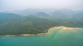 la visión aérea Koh Yao Yai está en Phang Nga, Tailandia imagenes de archivo