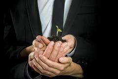 La visión del negocio, empieza para arriba o concepto del trabajo en equipo Foto de archivo libre de regalías