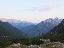La visión desde el  del iÄ del ¡de VrÅ en Eslovenia imagen de archivo libre de regalías