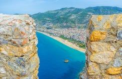 La visión desde el castillo de Alanya imágenes de archivo libres de regalías