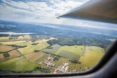 La visión desde la carlinga de un planeador Imagen de archivo libre de regalías