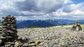 La visión desde la montaña de Ihrovets Fotografía de archivo